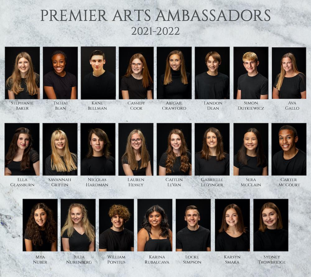 Premier Arts Ambassadors 2021-2022